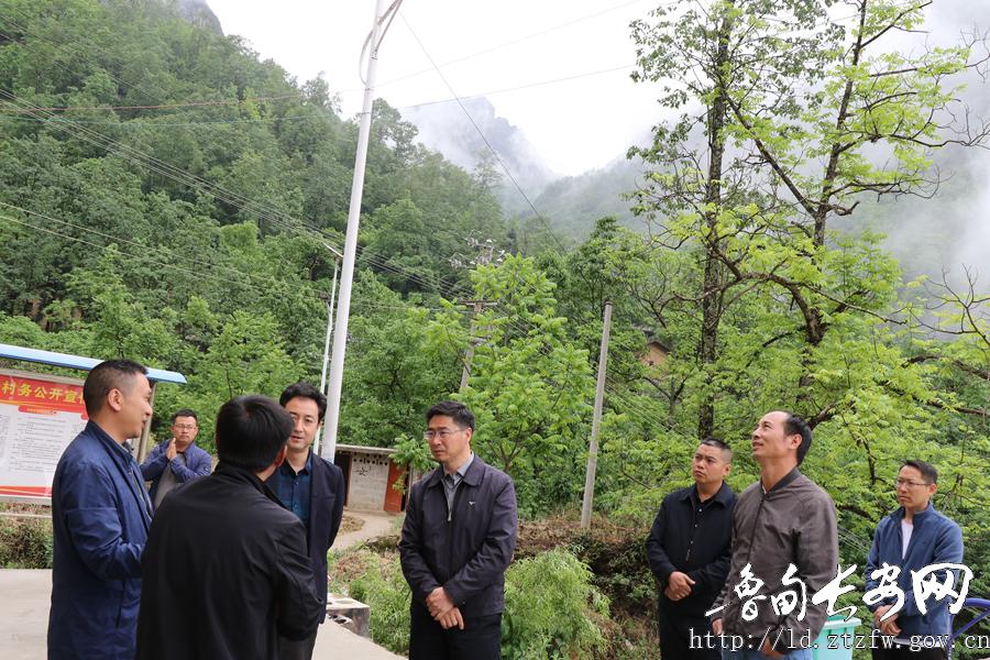 罗朝峰深入鲁甸县乐红镇调研指导脱贫攻坚工作